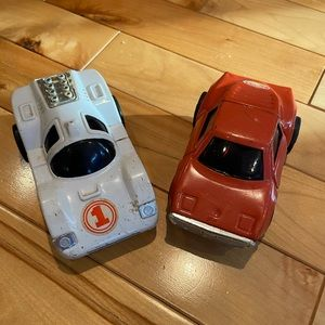 Two tonka cars made in Japan used